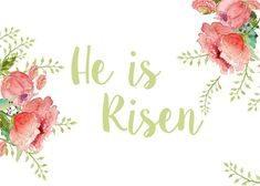 Stripes + Sweets: He is Risen Easter Printable