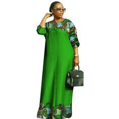African dashiki women bazin riche o-neck long loose dress Latest African Fashion Dresses, African Dresses For Women, African Print Fashion, African Attire, Women's Fashion Dresses, African Women, Kitenge, African Dashiki, Clothing Styles