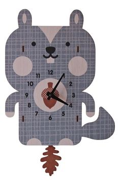 Free shipping and returns on MODERN MOOSE 'Squirrel' Pendulum Clock at Nordstrom.com. Handcrafted from sustainably harvested birch plywood, a chipper squirrel clock with a swingy pinecone pendulum adds fun to your child's bedroom.