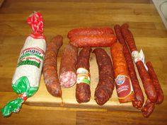 Krížikové vyšívanie Sausage, Cross Stitch, Food, Punto De Cruz, Sausages, Seed Stitch, Essen, Cross Stitches, Meals