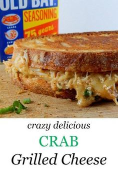 Cheesy, buttery, and decadent - this recipe for crab grilled cheese is an indulgent favorite. http://www.cookingismessy.com