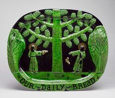 """""""Your Daily Bread"""" ~ Ceramic piece fromStephen Bird'sMy Dad was Born on the Moon."""