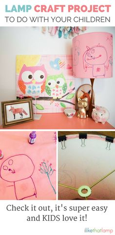 Looking for a Craft Project Your Child Will Love? - Read about DIY lampshade kits and projects at http://ilikethatlamp.com