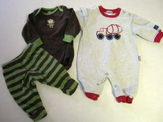 Baby Boy Outfits 3 M Months Carters Lot 2 Monkey Cement Mixer Truck CLEARANCE #Carters