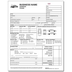 Towing Invoice Forms Towing Invoice Pinterest Invoice Template