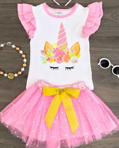 Girls' Clothing (newborn-5t) Clothing, Shoes & Accessories Kinder Boutique Unicorn Rainbow Dress 3-6m Or 6-12m