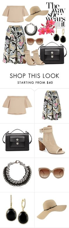 """""""Off-Shoulder Top"""" by hastypudding ❤ liked on Polyvore featuring TIBI, MSGM, Balenciaga, Sam Edelman, Alienina, STELLA McCARTNEY, Effy Jewelry, Coal, trending and glitter"""