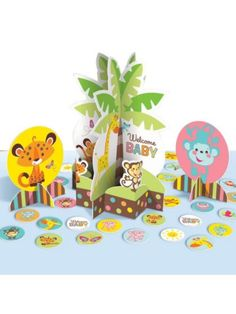 Fisher Price Baby Shower Table Decorating Kit - Party Decorations & Supplies