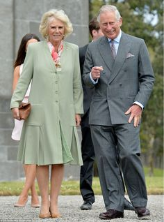Support: Charles and Camilla visited Lissadell Hosue and attended a small reception during...