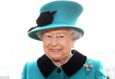 All smiles: The Queen, who has only missed the ceremony four times, was all smiles as she arrived