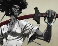 Afro Samurai: Season 1 & 2 on Blu-ray from Funimation. Staring Kelly Hu, Ron Perlman and Samuel L. More Anime, Action and Fantasy DVDs available @ DVD Empire. Afro Samurai, Samurai Art, Samurai Anime, The Last Samurai, Nerd Problems, Armadura Medieval, Art Anime, Manga Anime, Afro Art
