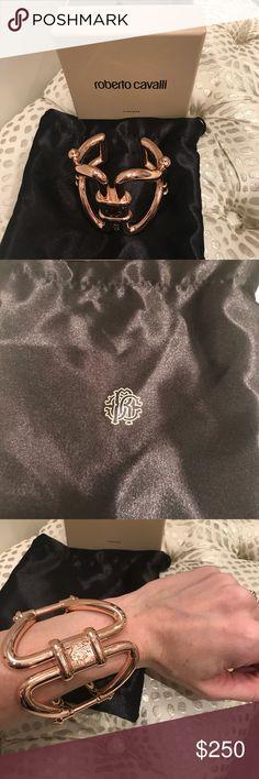 Roberto Cavalli bracelet Rose gold fashion jewelry. Brand new in box. Roberto Cavalli Jewelry Bracelets