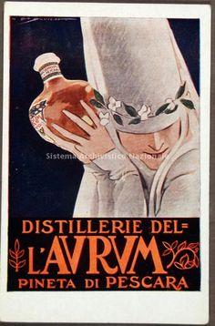 Distilleria Aurum, manifesto pubblicitario, 1950
