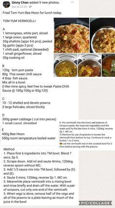 Tomyam Mee Hoon Thai Recipes, Asian Recipes, Soup Recipes, Cooking Recipes, Chinese Recipes, Chinese Food, Recipies, Malaysian Food, Malaysian Recipes