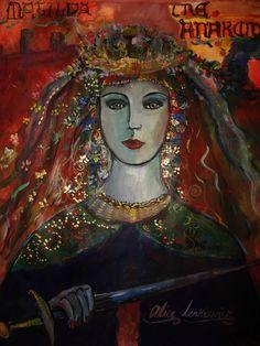 'Matilda'. Acrylic on paper by Alice Lenkiewicz