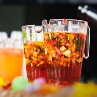 Fruity Pimm's Sangria Cocktail