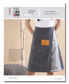 Pattern: Collage Wrap Skirt - Sew Daily