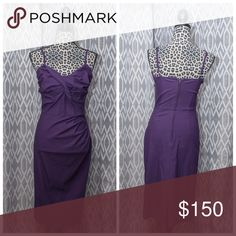 Stop Staring Million Dollar Baby Purple Pin Up This amazing dress is US made & features the best type of stretchy formal fabric that u have ever felt. Deep plum purple compliments all skin tones. From mid-summer heat to deep frost of winter anyone can make this dress work 4 them. Worn 3x Max. I had 2 replace this dress in my current size before I listed this. ;) The stretch made it possible for this dress 2 accommodate my 36F cup until I dropped to a small C cup. Back zip. No flaws/no…