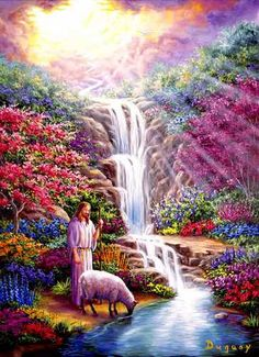 Yeshua is our Great Friend, our Wonderful God, and our Loving Kind Shepherd. - 'The Water Of Life' by Mario Duguay