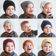 Seriously, what's cuter than 1 little Byron on a cold rainy day? 9 little Byrons testing out his whole BH collection! 😍 He looks so cute in all of our Beanies (some colours on sale!), Faux Leather Bowtie +  Dark Grey Signature Cardigan that is being restocked at 10am today! 🎉 www.beauhudson.co  Thanks for the gorgeous snaps @mequila he's just the cutest! 😍😘