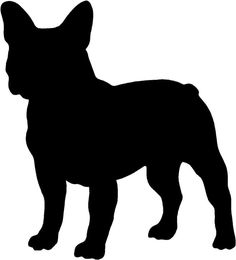 FRENCH BULLDOG SILHOUETTE STICKER, VINYL DECAL, DOG, PUPPY 245mm X 220mm