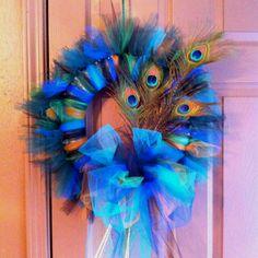My peacock wreath