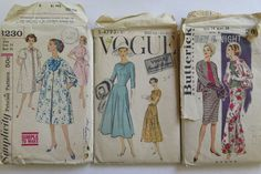 3 Vintage patterns for woman size 14, Vogue, Butterick and Simplicity by Waitingforgeorge on Etsy