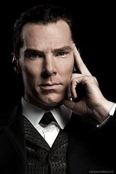 Benedict Cumberbatch as victorian Sherlock. Here is the great Sherlock Holmes!!!