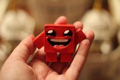 Super Meat Boy Figurine  Prototypes par EdmundM sur Etsy, $25,00    So cute !