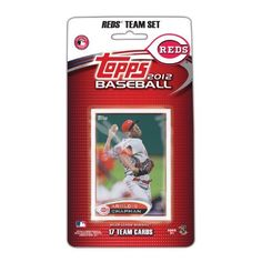MLB Cincinnati Reds 2012 Topps Team Set by Topps. $6.99. This is the official 2012 Topps MLB Team set - the official card of Major League Baseball. This set will contain 17 cards, the 17th card is a bonus exclusive to the set. That's right, this set is the only place to get this card, which will be of the ballpark of the team. All 17 cards will be packaged in a blister and then sealed on peggable card. This set is a great way to introduce fans to card collecting, and a legacy co...