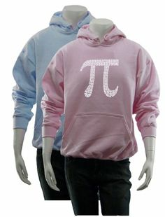 $34.99 awesome Women's Pink PI Hoodie S - Created using the first 100 digits of PI