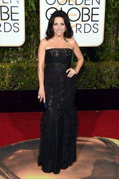 Pin for Later: Verpasst nicht die besten Looks auf dem roten Teppich der Golden Globe Awards Julia Louis-Dreyfus