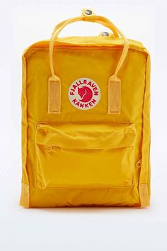 Fjallraven Kanken Classic Backpack in Warm Yellow
