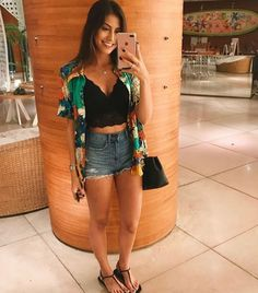 25 Casual Summer Outfits for Teen Girls and Women for Cute Comfy Simple Style Crop Top Outfits, Short Outfits, Trendy Outfits, Fall Outfits, Cute Outfits, Fashion Outfits, Casual Summer Outfits For Teens, Summer Outfit For Teen Girls, Funky House