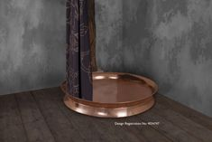 Copper Shower Tray with Nickel Interior Shower Heads, Dog Bowls, Showers, Tray, Copper, Bathtub, Interior, Bathroom Ideas, Standing Bath