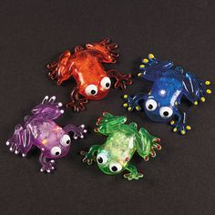 Flashing Squishy Frogs with Beads - OrientalTrading.com