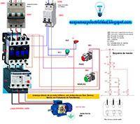 Esquemas eléctricos: Arranque directo de un motor trifásico con protecc...