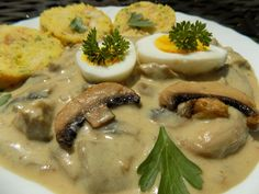 20 Min, Bon Appetit, Mashed Potatoes, Stuffed Mushrooms, Chicken, Meat, Cooking, Ethnic Recipes, Kitchen