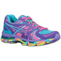ASICS® Gel - Kayano 18 - Women's - Electric Purple/Turquoise/Lime--these shoes are so much fun looking