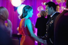 """""""Father Knows Best"""" - Shay Mitchell as Emily Fields and Eric Steinberg as Colonel Fields in PRETTY LITTLE LIARS on ABC FAMILY."""