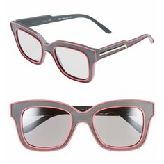 Limited Addition Stella McCartney Sunglasses. Authentic Stella McCartney Limited Addition run• Grey rounded square frames• Pink trim• Gold Stella McCartney logo laser into the side of the arm. Stella McCartney Accessories Glasses