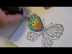 Spectrum Noir Coloring Tutorial - Butterfly - YouTube