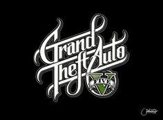 GTA 5 Logo Redesign by Martin Schmetzer