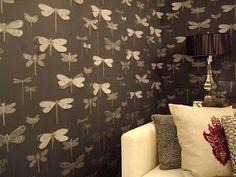 Porters Paints 3d dragonfly wallpaper <3