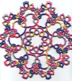 Amusement tatting doily pattern