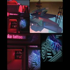 Ongoing project. . . . #tattoo #uvtattoo #animatedtattoos #cyberpunk #neon #neontattoo #tattooshop #futuristic #scifi #advertisement #poster #3d #modelling #environment #modulardesign #process #red #blue #time #fiction #fictional #moodboard #unity #autodeskmaya #graphics #gamedesign #game #gamegraphics #mechanic #meka