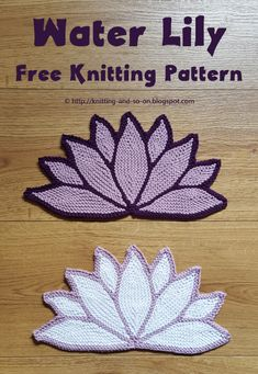 Water Lily Potholder - free knitting pattern by Knitting and so on Dishcloth Knitting Patterns, Knit Dishcloth, Loom Knitting, Free Knitting, Crochet Patterns, Loom Patterns, Small Knitting Projects, Knitting Designs, Knitting Ideas