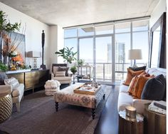 In a two-bedroom condo on the 36th floor of the Spire, designer Teresa Davis of Post 31 Interiors created her dream downtown retreat. We chatted with her about getting an effortlessly layered look—in just 1,100 square feet.