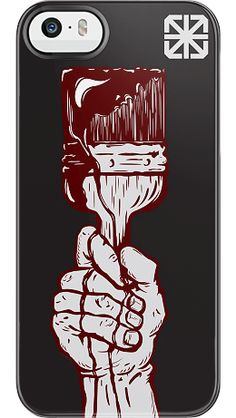 """""""Drip"""" by The Seventh Letter for the iPhone 5/5s Black Bezel Deflector"""