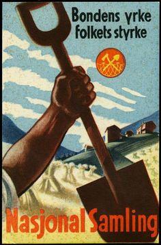 Slagord og plakat for NS